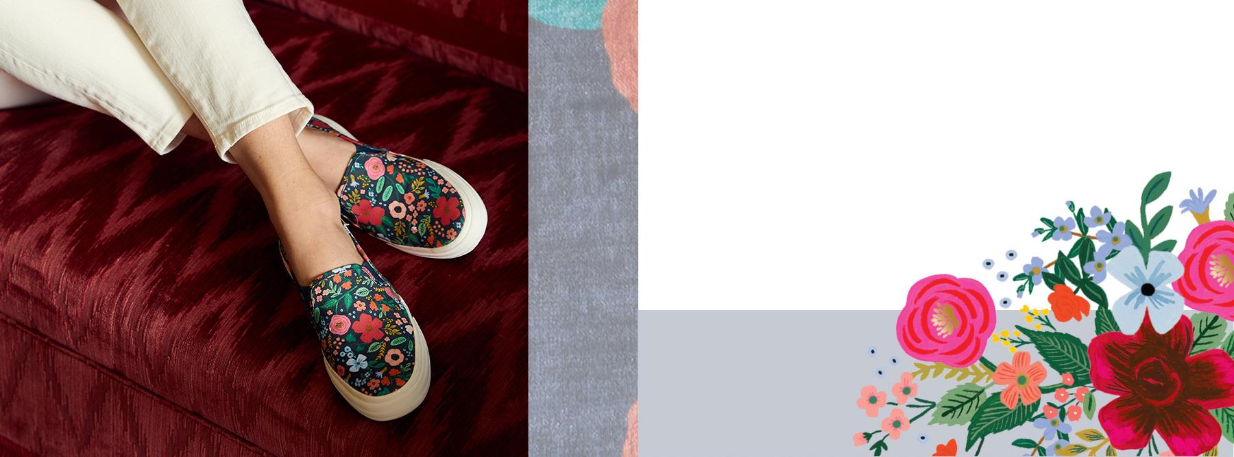 A pair of Kickstart Wild Rose's being playfully worn.