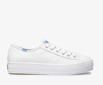 White Triple Kick Leather Sneaker