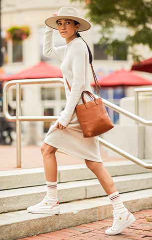 White Leather Demi Mid TRX.