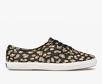 Black Leopard Champion Sneaker