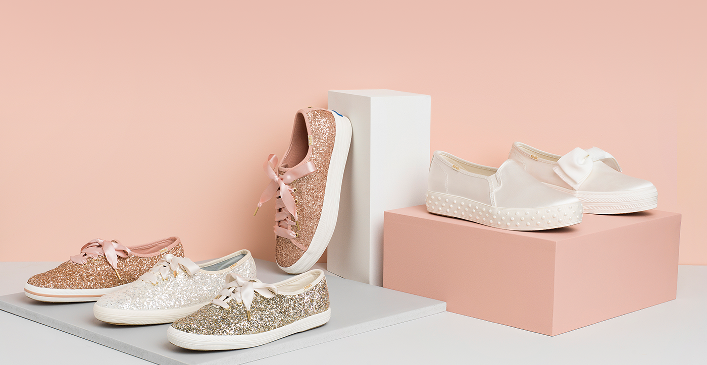 92fcded51 Wedding Sneakers - Glitter   Kate Spade Wedding Shoes
