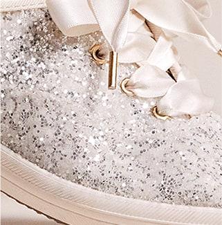Keds x kate spade new york Champion Glitter Shoe.