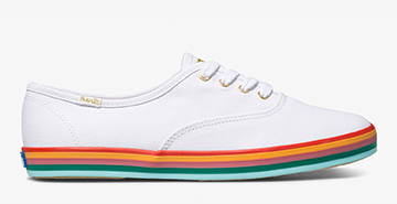 Champion Sneaker with Rainbow Foxing