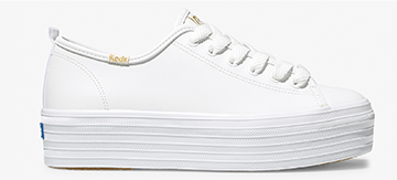 White Leather Triple Up