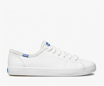 White Kickstart Leather Sneaker