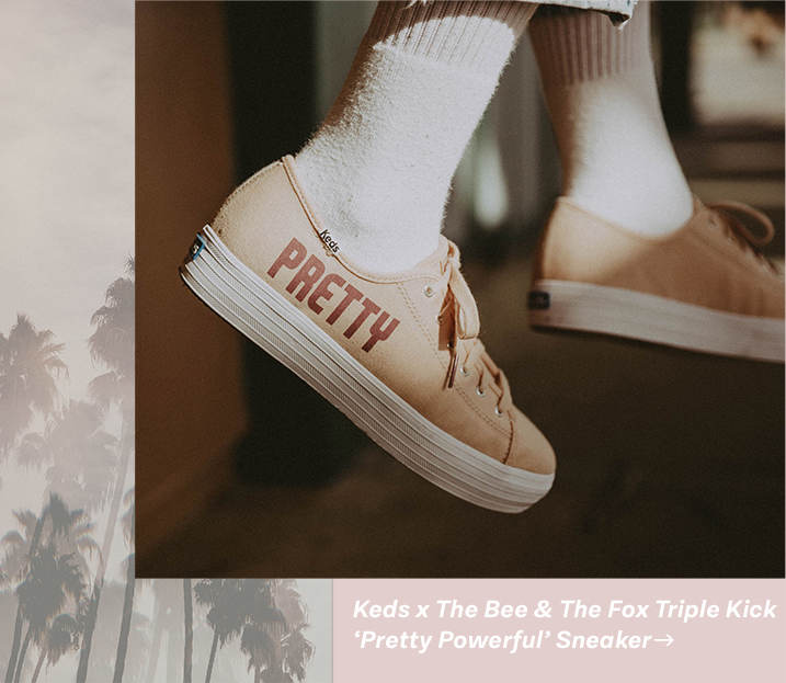 Keds x The Bee & The Fox Triple Kick 'Pretty Powerful' Sneaker