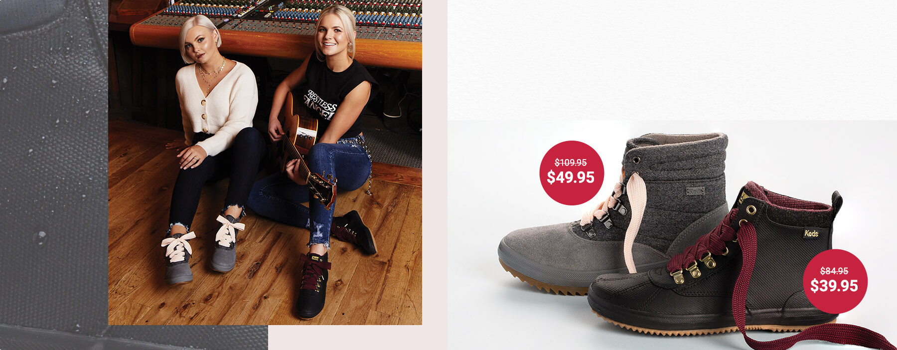 Boots marked down by over 50%.