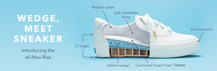 Profile of shoe partially cut open, showing features.