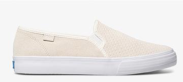 White Perf Double Decker Sneaker