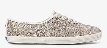 Keds x kate spade new york Rose Gold Multi Glitter Champion Sneaker