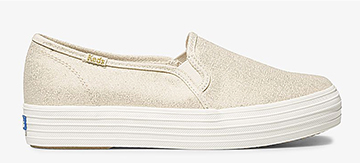 Metallic Gold Triple Decker Sneaker