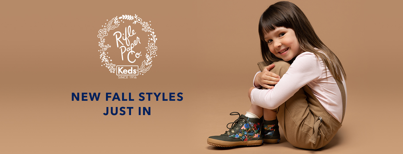 New Fall Styles Just In. Rifle Paper Co. x Keds.
