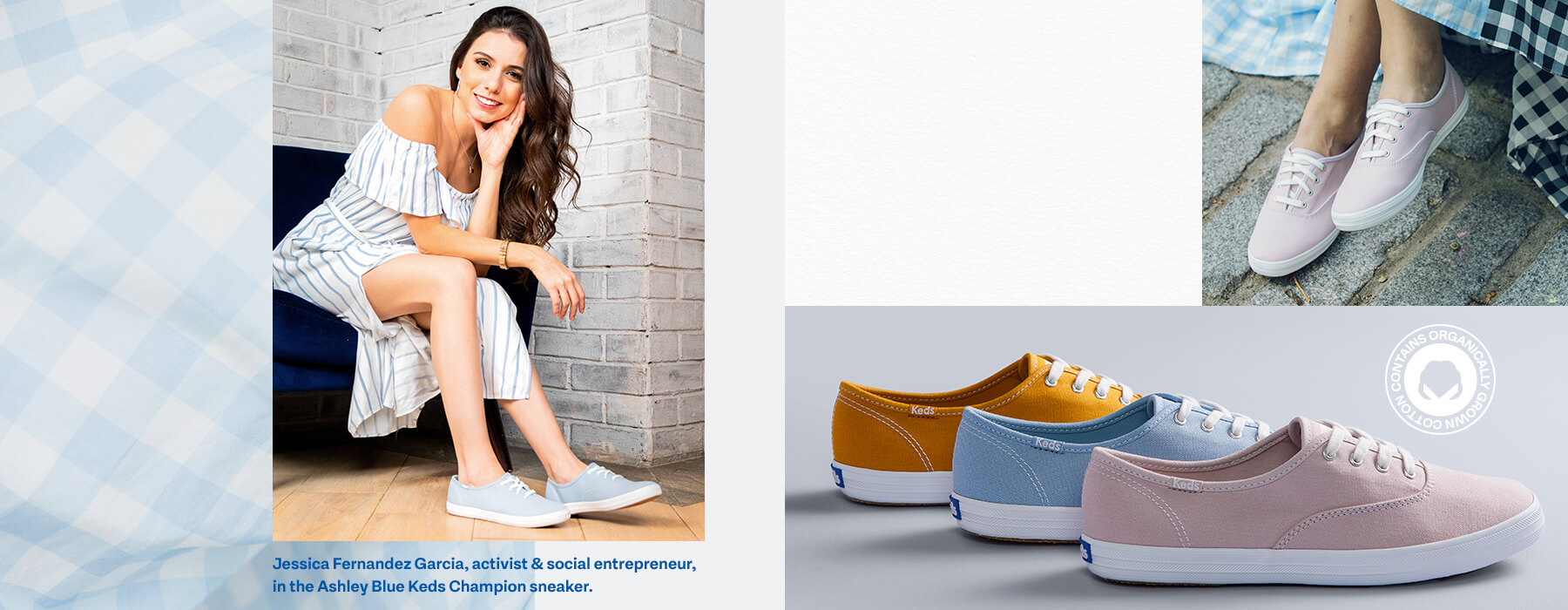Jessica Fernandez Garcia, activist & social entrepreneur, in the Ashley Blue Keds Champion sneaker.