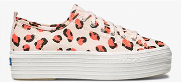 Pink Leopard Triple Up Sneaker