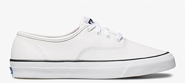 White Leather Surfer Sneaker
