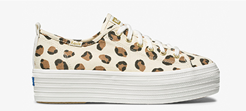 Leopard Cream Triple Up Sneaker