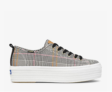 Plaid Triple Up Sneaker