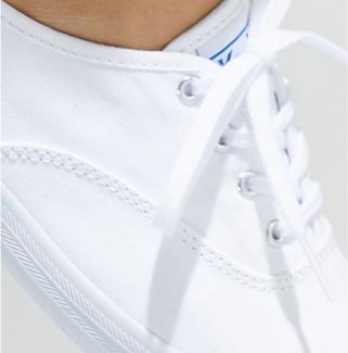 Keds Champion originals shoe, extreme close-up.