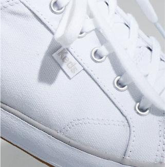 Keds Center 2 Canvas shoe, extreme close-up.
