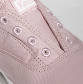 Keds Chillax washable shoe, extreme close-up.