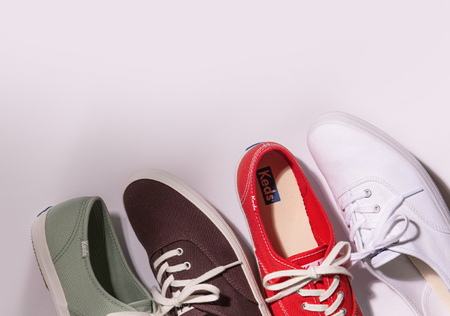 collection of Keds shoes