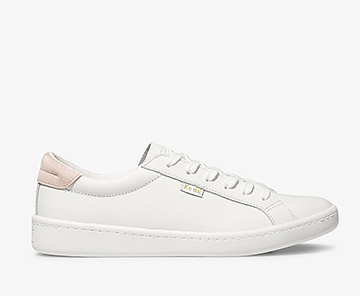 White Blush Ace Leather Sneaker