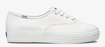 White Leather Triple Sneaker