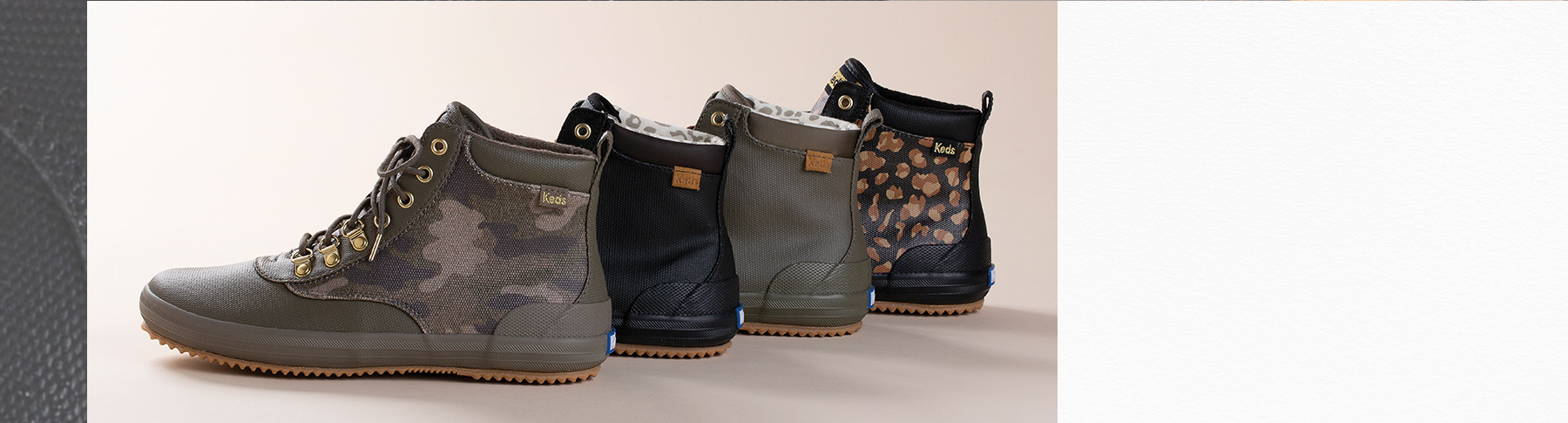 Scout boots in four different styles.