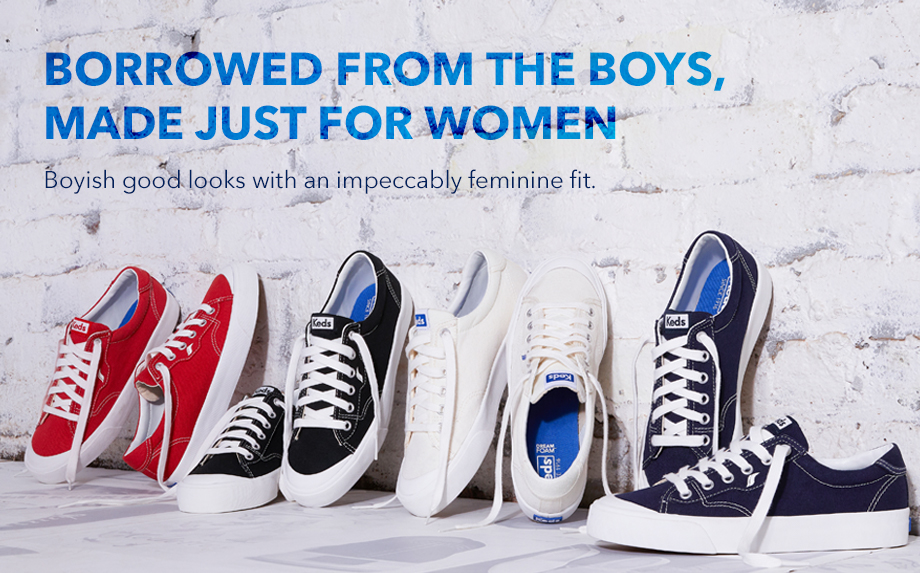 Borrowed from the boys, made just for women!  Boyish good looks with an impeccably feminine fit.