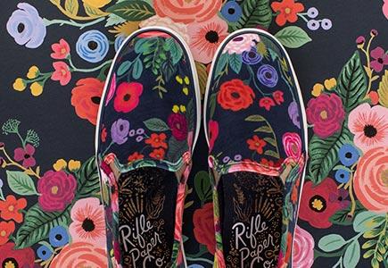 Keds in flower pattern.