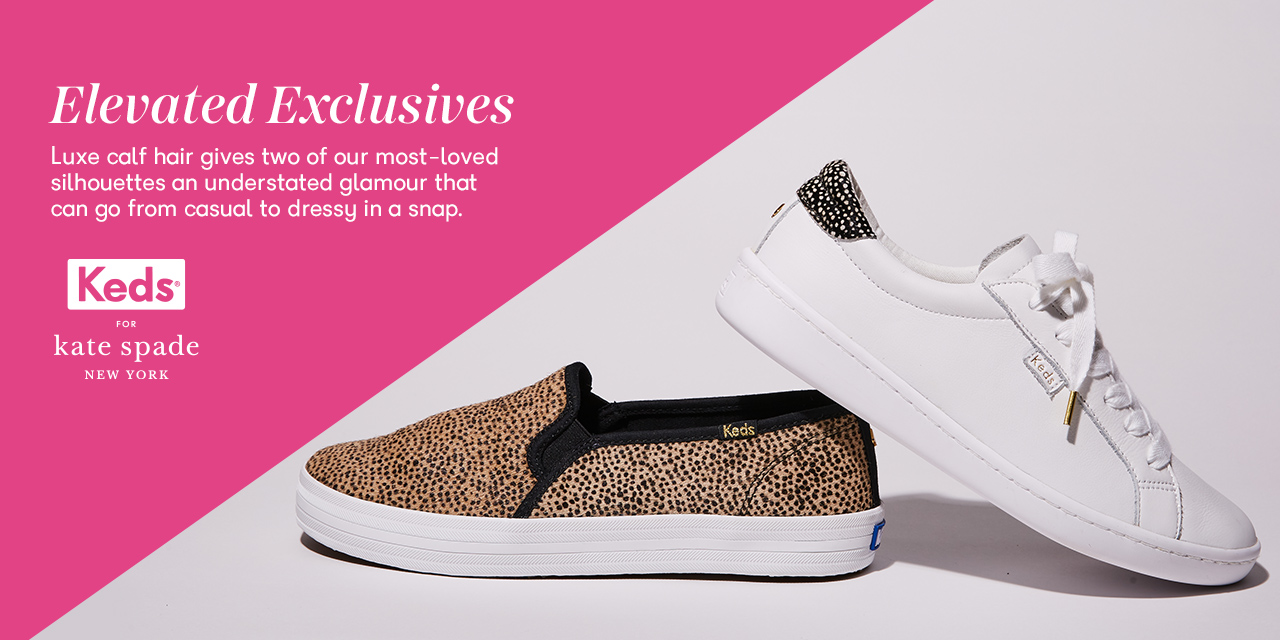 Two Keds shoes from the kate spade collection.