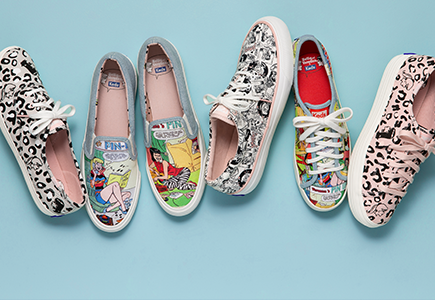 Keds featuring comic book characters.