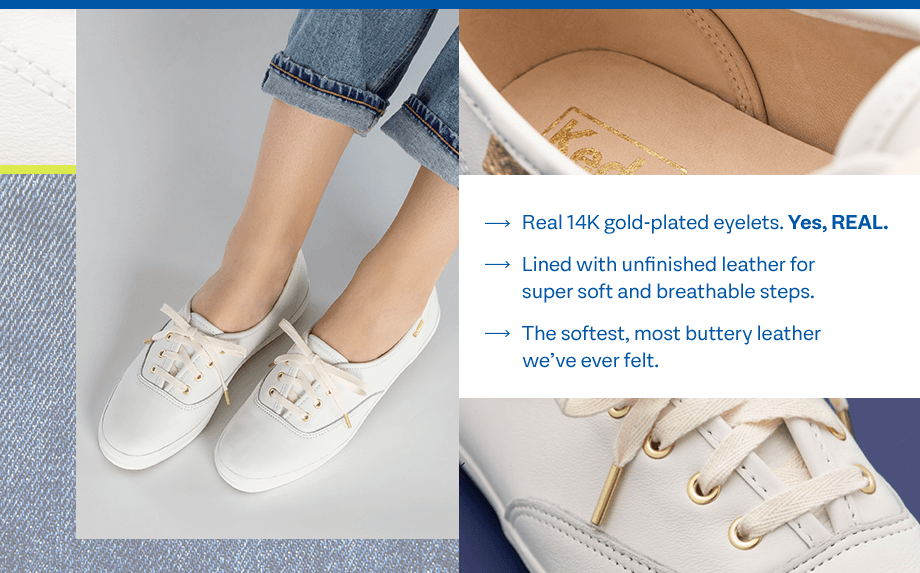 Real 14K gold-plated hardware. Yes, REAL. Lined with unfinished leather for super soft and breathable steps. The softest, most buttery leather we've ever felt.