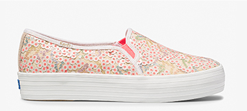 Keds x Oh Joy! Pink Multi Triple Decker Sequins Sneaker