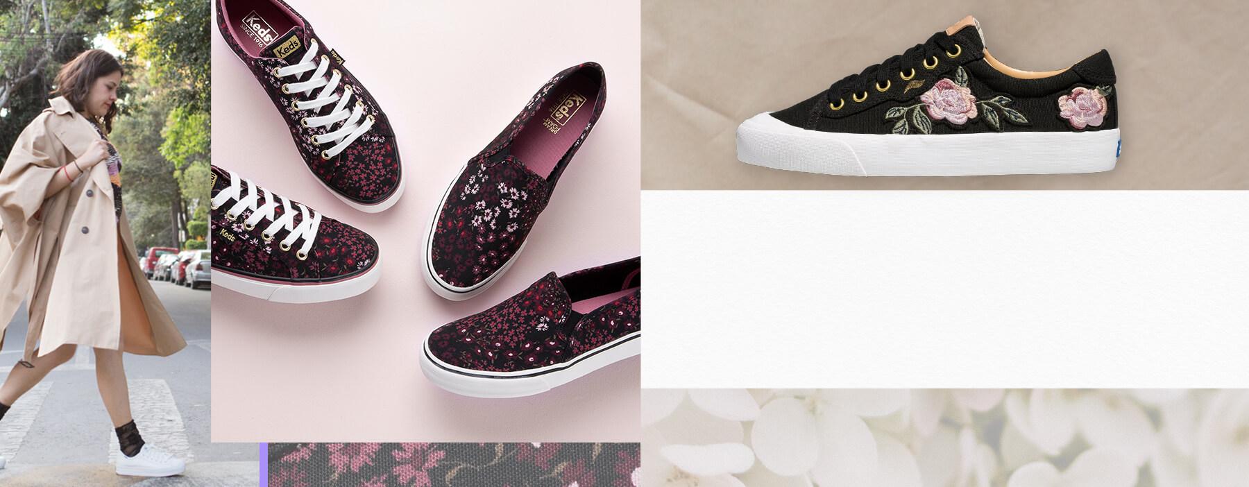 Keds floral print shoes.