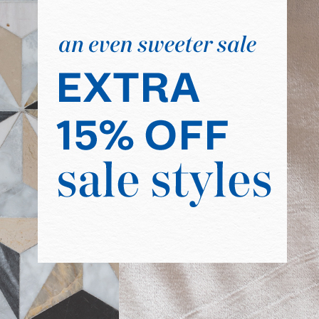 Extra 15% off Sale! Code: HOLIDAYTREAT.