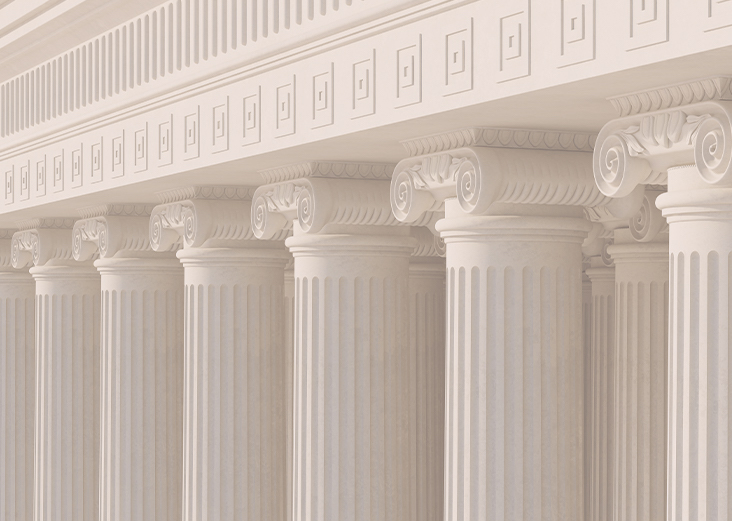 white architectural columns