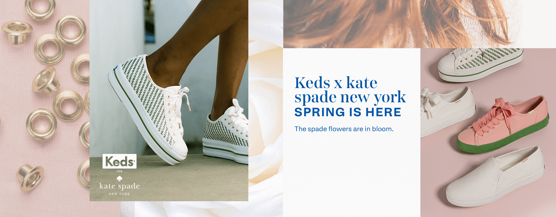 Keds x kate spade new york. Spring is here. The spade flowers are in bloom.