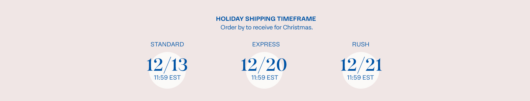 Holiday Order By Dates