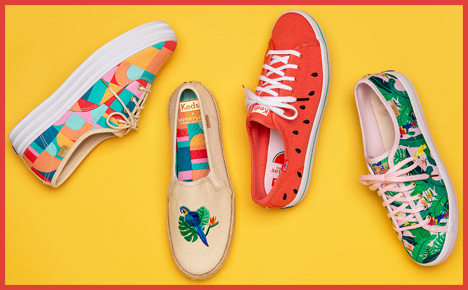 Assorted Sunnylife Keds shoes.