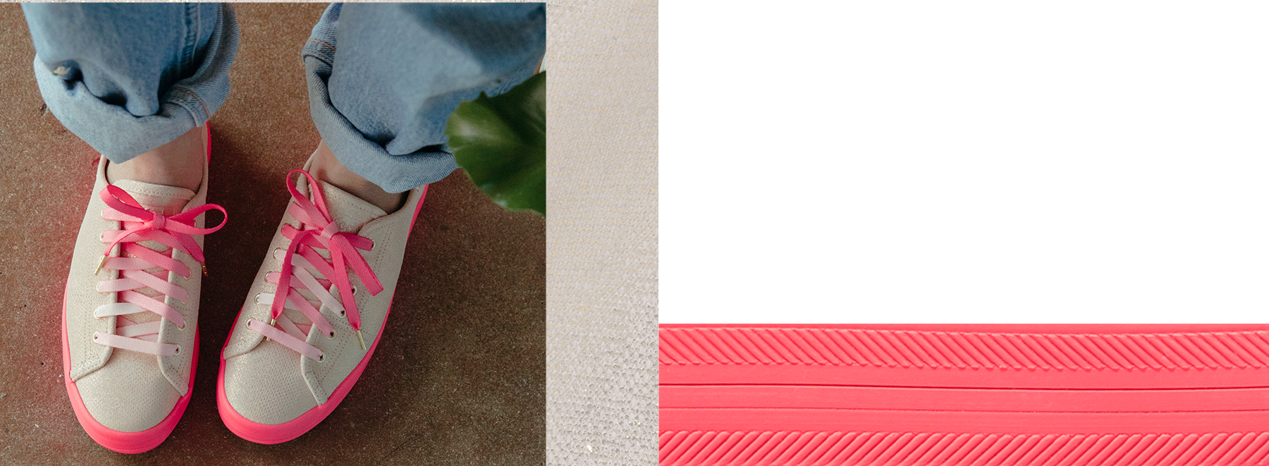 Women's Keds x Oh Joy! Kickstart Neon Foxing Iridescent Leather