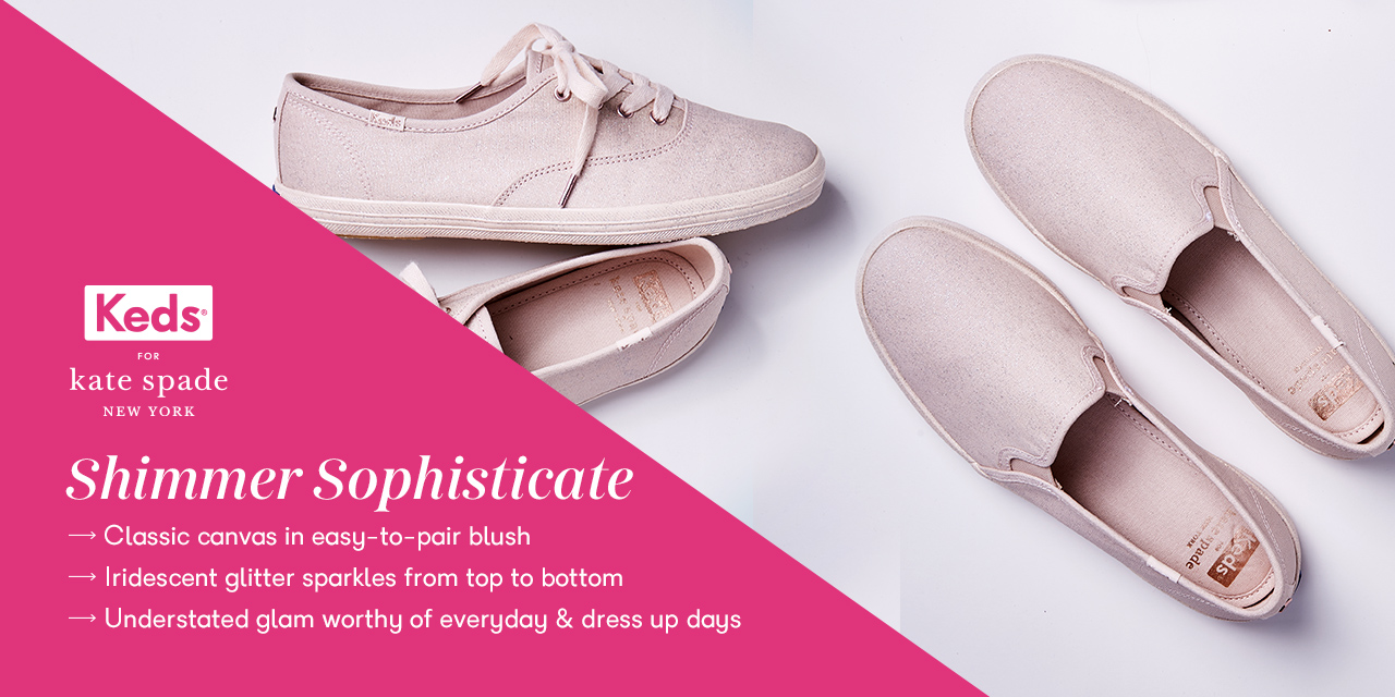 Two pairs of Keds shoes from the kate spade collection.