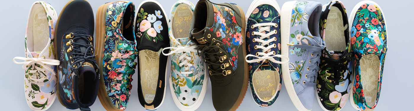 Collage of Rifle paper shoes