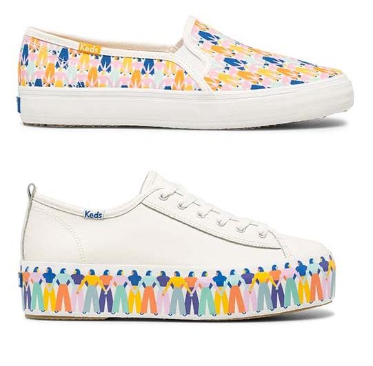 Keds Rainbow People shoes.