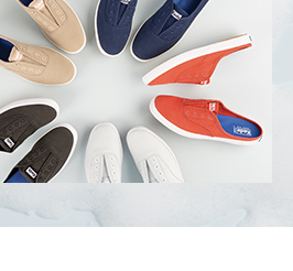 Keds sneakers in a circles.