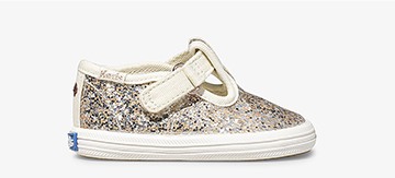 Kid's Keds x kate spade new york T-Strap Glitter Champion Sneaker