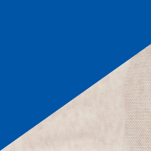 Blue background with white texture.
