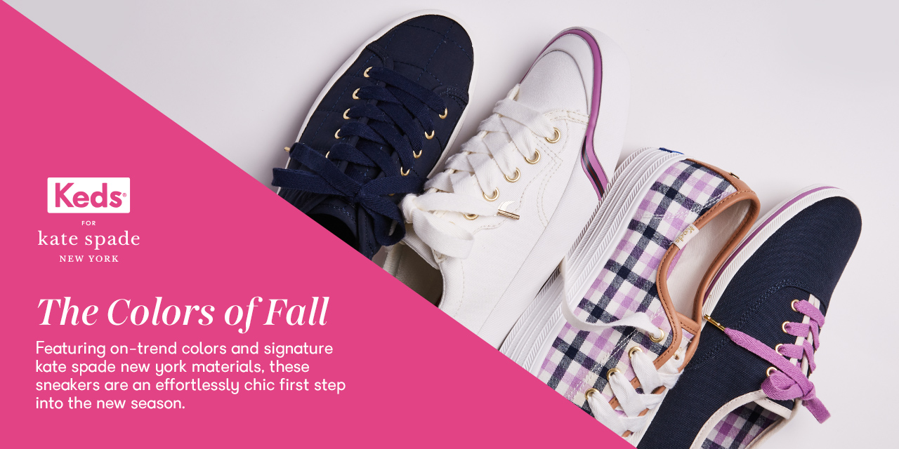 Four Keds shoes from the kate spade collection.