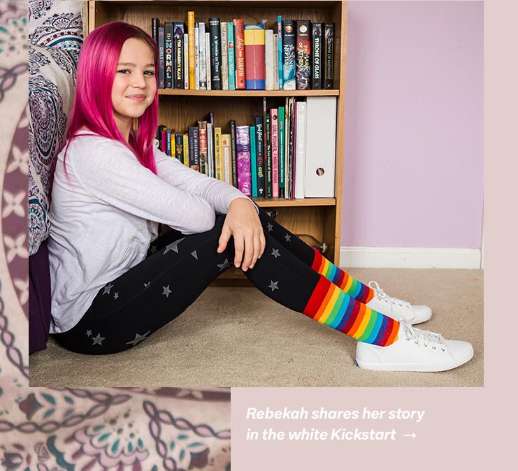 Rebekah shares her story in the white Kickstart