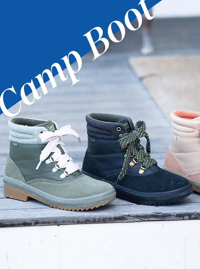 Assorted colors of the Camp Boot Suede & Splash Twill w/ Thinsulate™.